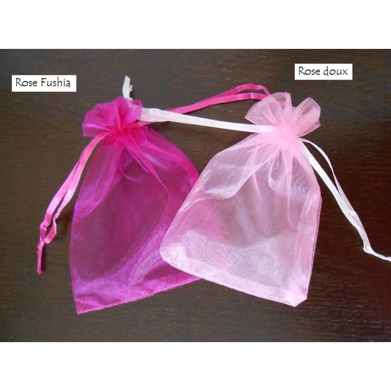 acheter 10 sachets drag es organza rose fushia sur hello. Black Bedroom Furniture Sets. Home Design Ideas