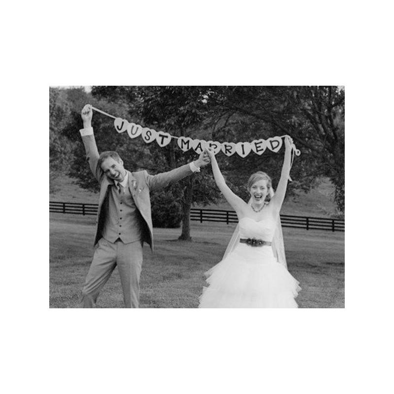 Super Acheter Guirlande Just Married voiture mariés sur Hello-Pompon ZG75