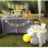 décoration tassel papier jaune blanc gris