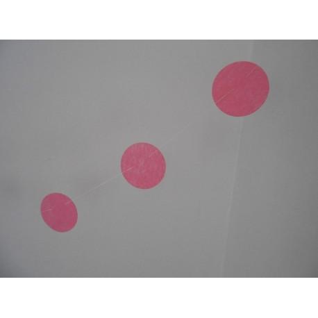 Guirlande 12 petits cercles rose doux