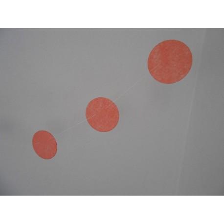 Guirlande 12 petits cercles pêche