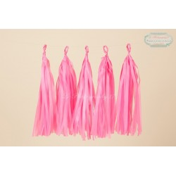 guirlande tassel rose flashy