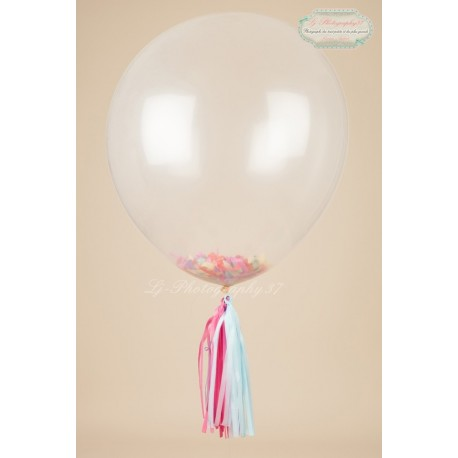 Ballon géant transparent 90 cm