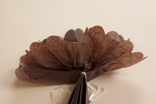 pliage pompon en papier